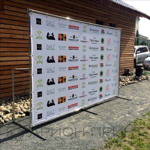 Пресс-волл 3х2м на ежегодный любительский турнир по теннису Чашка Кофе Cup @chashka_coffee